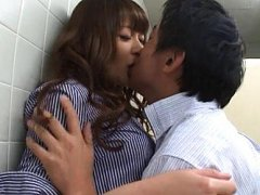 Meru Nonomiya Asian is kissed and about to get shl...