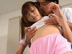 Rina Rukawa Asian has titties sucked while is touc...