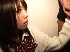 Chika Arimura Asian in uniform has to stroke and s...