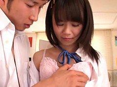 Asuka Hoshino Asian sucks and gets hard penis in c...