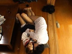 Chika Eiro Asian in uniform has nooky licked and p...