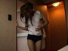 Chika Eiro Asian sucks dick at shower and has beav...