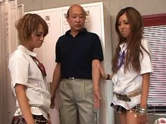 Rena Konishi Asian shows hot ass under skirt and r...
