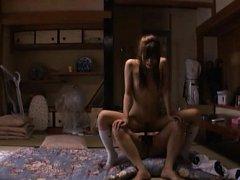 Chika Eiro Asian is fucked on the floor under shor...