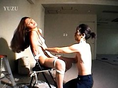 Madoka Enomoto Asian is tied in ropes on chair and...