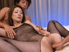 Marina Matsumoto Asian has pussy fingered through...
