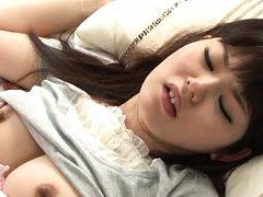 Asuka Shiratori Asian with jugs out of bra gets lo...