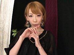 Aya Kisaki Asian naughty plays with nails on man d...