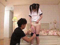 Japanese AV Model is teased with vibrator over spo...