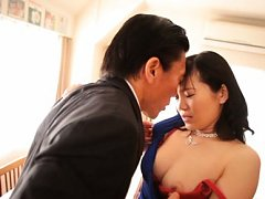 Arisa Ikoma Asian has ass and hooters touched unde...