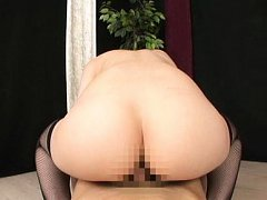 Aya Kisaki Asian with nasty bust rubs cock with fe...