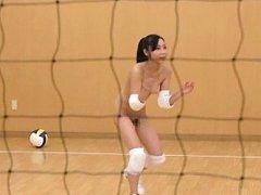 Japanese AV Model plays sports in white lingerie a...