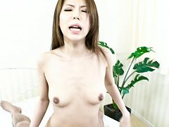 Rino Asuka Asian gets dick in nooky and vibrator o...