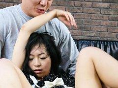 Nozomi Hazuki Asian gets vibrator in asshole and c...