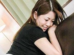 Rika Minamino Asian has asshole fucked with finger...