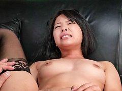 Eririka Katagiri in stockings has cunt fucked with...