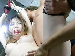 Yuria Kano Asian with tied hands gets vibrator whi...