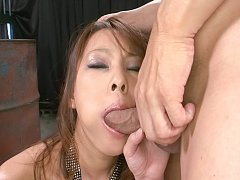 Asuka Asian nymph with hot boobs takes boner in ea...