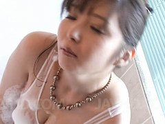 Haruka Oosawa Asian with hot bum arouses clit with...