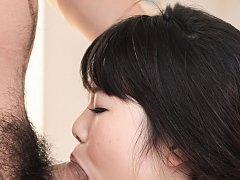 Jun Mamiya Asian with vibrator in asshole sucks an...