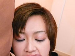 Akina Hara Asian gets fingers in twat and cum on f...