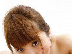 Maomi Nagasawa Asian with soaped titties licks and...