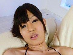 Nozomi Koizumi Asian sucks and rubs cocks and spre...