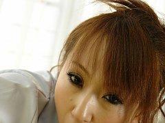 Anna Mizukawa Asian rubs penis between juicy boobs...