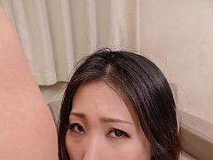 Naomi Sugawara licks dildo and gets cum from sucki...