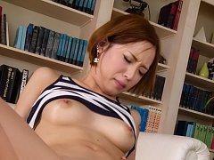 Ena Ouka Asian shows cunt with yellow hair while s...