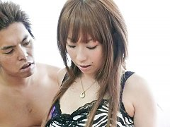 Saki Asaoka Asian has labia spread and nipples pin...
