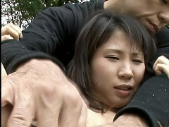 Emiri Takeuchi Asian has nipples squeezed and clit...