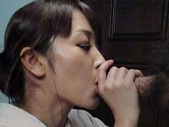 Marika Asian cupcake plays with cock and sucks it...