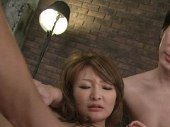 Yuu Hinouchi Asian has pink cunt fucked with vibra...