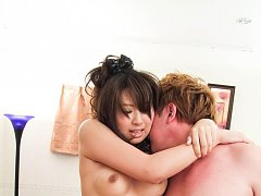 Mai Asahina Asian has mouth and cunt filled with c...