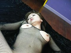 Yumemi Tachibana in crotchless outfit is fucked in...