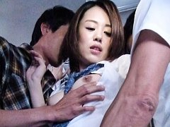 Yuna Satsuki Asian has slit rubbed in panty and su...