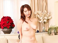 Hitomi Araki Asian has pussy licked and fucked by...