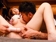 Minami Kitagawa Asian in tiny lingerie is aroused...
