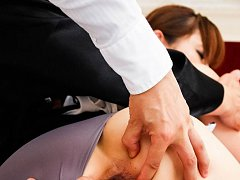 Hitomi Kanou Asian has dark cunt fingered and assh...