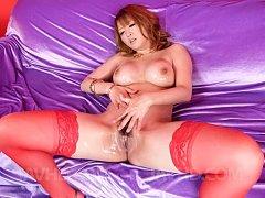 Yuki Touma Asian has big boobs fondled with oil wh...