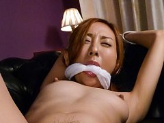 Erena Aihara can't scream while is fucked with dil...