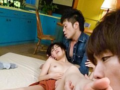 Kyouka Mizusawa Asian with cunt in deep frigging s...