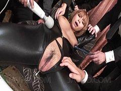 Sumire Matsu Asian gets vibrator while having boob...