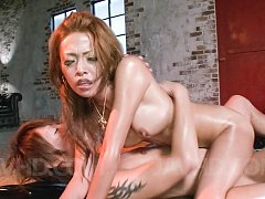Rei Miyakawa Asian has tits and shaved cunt fondle...