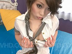 Saki Ootsuka Asian busty is nailed in peach with s...