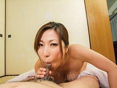 Mirei Yokoyama Asian rubs cock between sexy legs '...