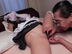Eri Yoshino Asian in stockings and uniform is scre...