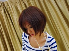 Nene Mashiro Asian with streaky blouse strokes and...
