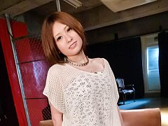 Ruri Haruka Asian with perfectly round cans gets t...